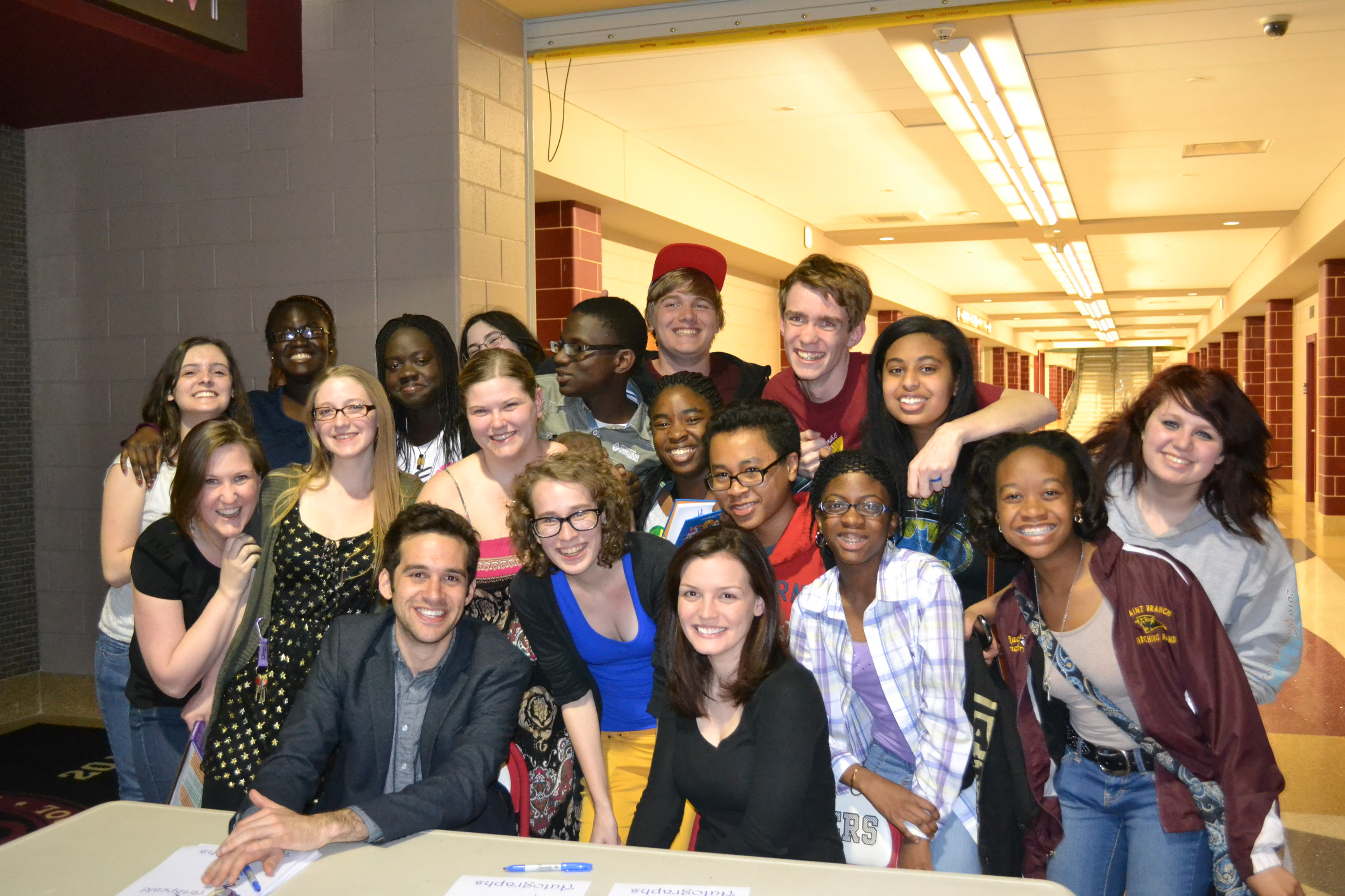 Adam Chanler-Berat, Jennifer Damiano and Students